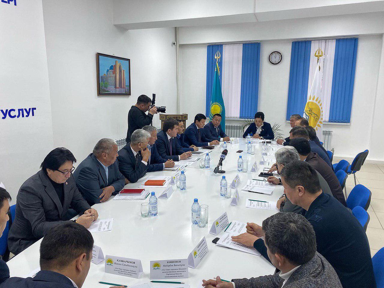 Meeting of the party control Commission at the Shymkent city branch of the Nur Otan party